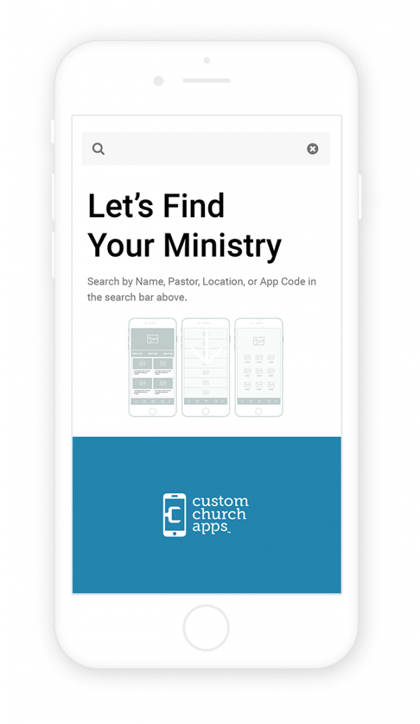 My Church App Home Screen
