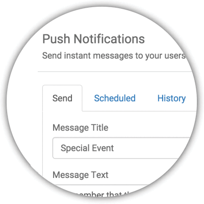 Scheduled Push Notifications