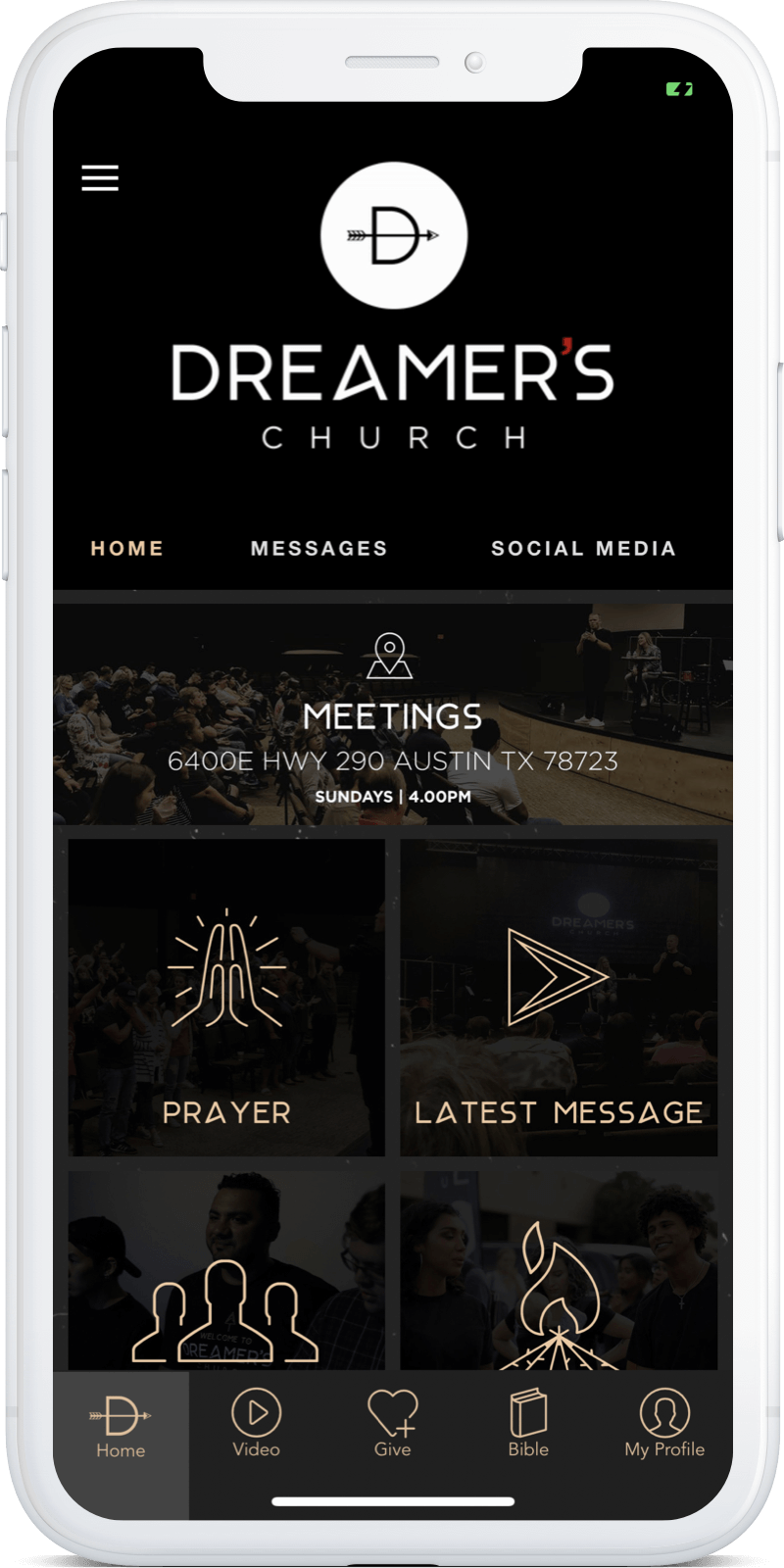 Open your church app