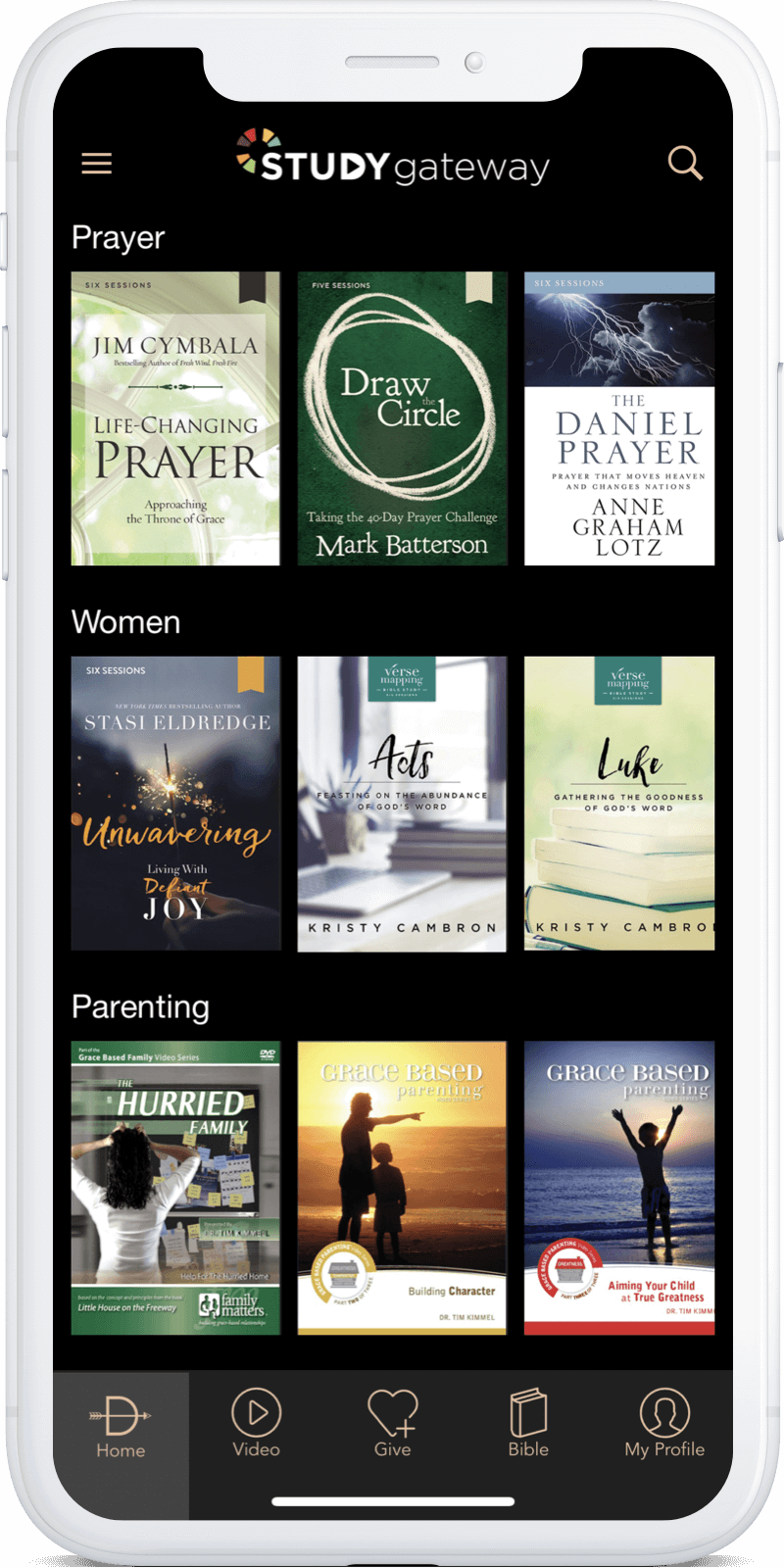 Access thousands of video Bible studies