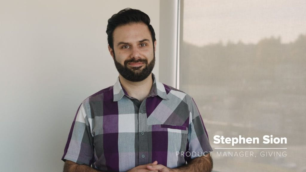 Stephen Sion - Product Manager, Giving