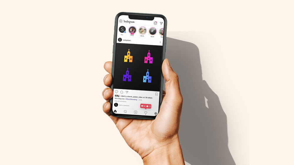 Social media posts for churches